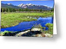 Rocky Mountains River Greeting Card by Olivier Le Queinec