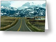 Rocky Mountains Road Greeting Card