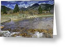 Rocky Mountains Greeting Card by Tom Wilbert