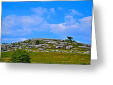 Rocky New England Hill Greeting Card