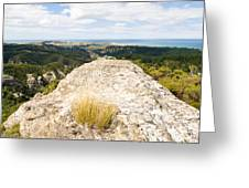 Rocky Outcrops Of Trotters Gorge Otago Nz Greeting Card