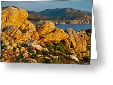 Rocky Point And Bixby Bridge Big Sur California Greeting Card