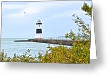 Rocky River Pier Greeting Card