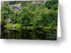 Rocky River Reflection Greeting Card