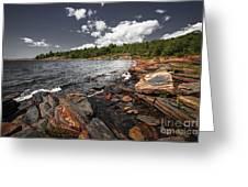 Rocky Shore Of Georgian Bay I Greeting Card