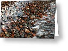 Rocky Shoreline Abstract Greeting Card