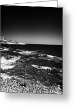 Rocky Shoreline At Salou On The Costa Dorada Catalonia Spain Greeting Card