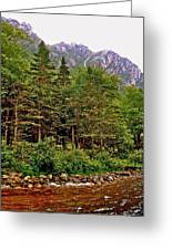 Rocky Shoreline Of Western Brook Pond In Gros Morne Nl Greeting Card