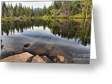 Rocky Shores At Swim Lake Greeting Card