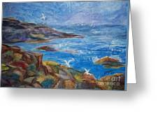 Rocky Shores Of Maine Greeting Card