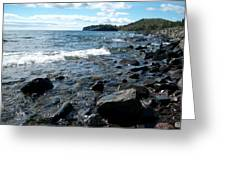 Rocky Shores Of Superior Greeting Card
