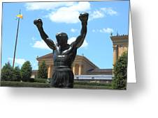 Rocky Statue Greeting Card by Lou Ford