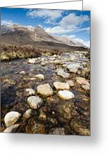 Rocky Stream From Beinn Eighe Greeting Card
