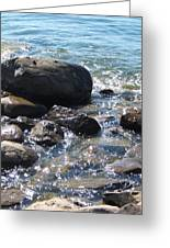 Rocky Waters Greeting Card by Margaret McDermott
