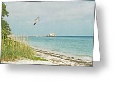 Rod N Reel Pier Greeting Card