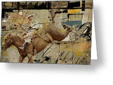 Rodeo Abstract 001 Greeting Card