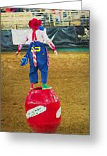 Rodeo Barrel Clown Greeting Card