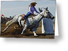 Rodeo Barrel Racer Greeting Card