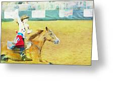 Rodeo Beauty Three Greeting Card