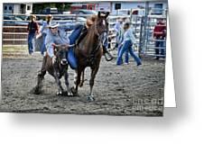 Rodeo Bulldog Greeting Card