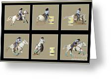 Rodeo Collage 2 Greeting Card