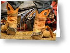 Rodeo Cowboy Tools Of The Trade Greeting Card by Miki  Finn