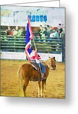 Rodeo Flag Greeting Card