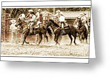 Rodeo Grandentry Greeting Card