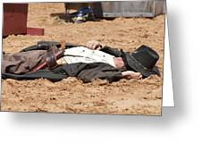 Rodeo Gunslinger Victim Color Greeting Card