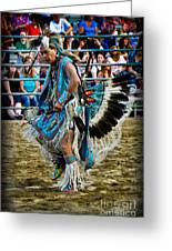 Rodeo Indian Dance Greeting Card