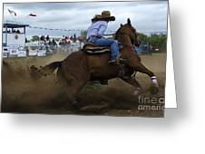 Rodeo Ladies Barrel Race 1 Greeting Card