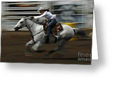 Rodeo Riding A Hurricane 1 Greeting Card