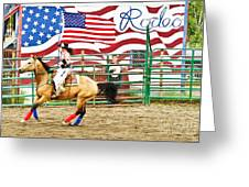 Rodeo Greeting Card by Terry Cotton