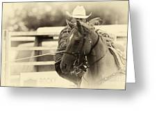 Rodeo The Cowboy Way Greeting Card