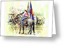 Rodeo Time In Colorado Greeting Card