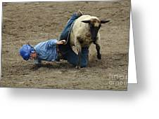 Rodeo Velcro Rider 3 Greeting Card