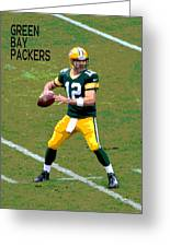 Aaron Rodgers Greeting Card