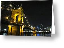 Roebling Bridge II Greeting Card