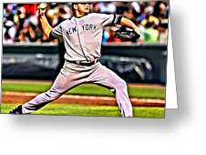 Roger Clemens Painting Greeting Card