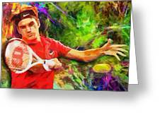 Roger Federer Greeting Card