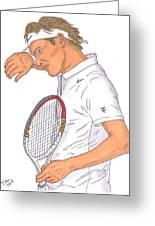 Roger Federer Greeting Card by Steven White