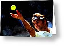 Roger Federer Tennis 1 Greeting Card