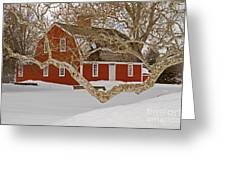Roger Williams Cottage In Winter Greeting Card