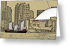 Roger's Centre And Tall Ship Greeting Card