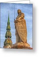 Roland Of Riga Painting Greeting Card