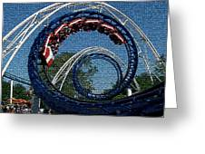 Roller Coaster 2 Greeting Card