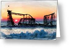 Roller Coaster After Sandy Greeting Card by Tony Rubino