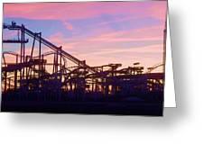 Roller Coaster At The  Nj Shore Greeting Card