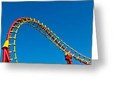 Roller Coaster Curve Greeting Card