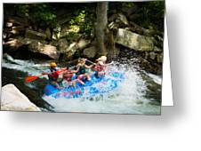 Roller Coaster Of Rafting Greeting Card